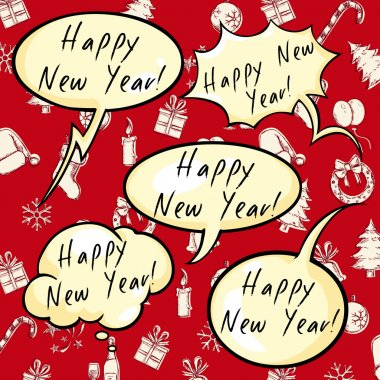 Greeting Bubbles  - Happy New Year.