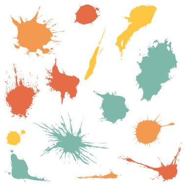 Vector Set of Color Spots clip art vector