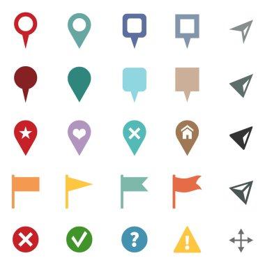 Set of GPS Icons.