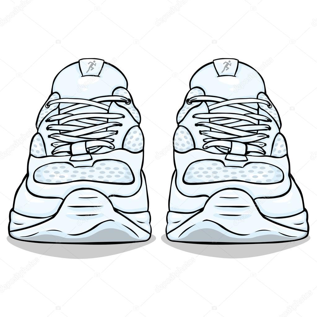 Zapatillas Blancas Archivo Imagenes Vectoriales C Nikiteev 60181757