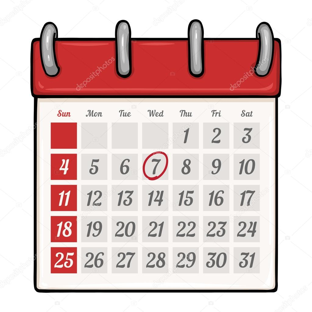 Cartoon Calendar — Stock Vector © nikiteev #61761315