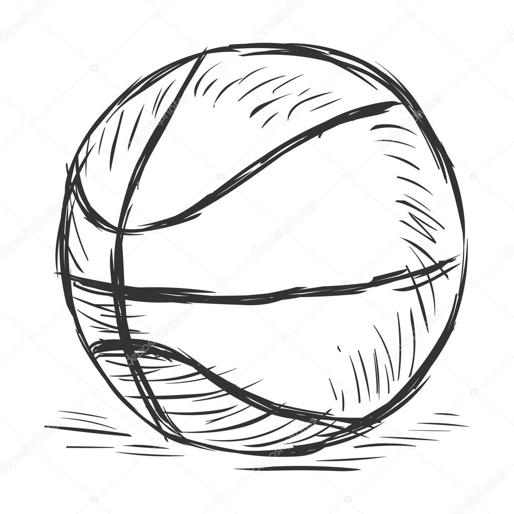 Single Sketch Basketball Ball U2014 Stock Vector U00a9 Nikiteev #63667159