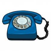 Fotografie Cartoon Retro-Rotations-Telefon