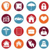 Photo Set of Insurance Icons