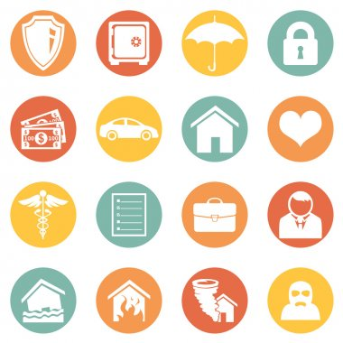 Set of Insurance Icons