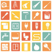 Photo Set of  Construction and Decoration Icons