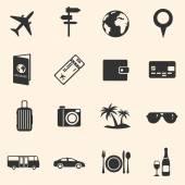 Cestování a dovolená ikony