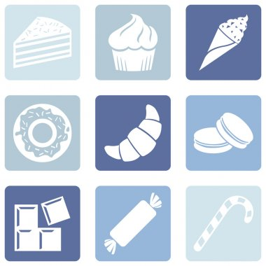 Set of Dessert Icons