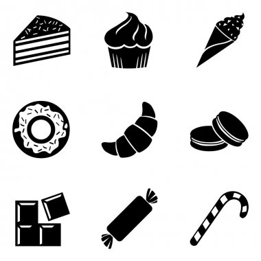 Set of Dessert Icons