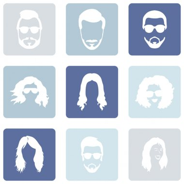 Set of Hairstyles Icons