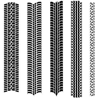 Set of 5 tire tracks