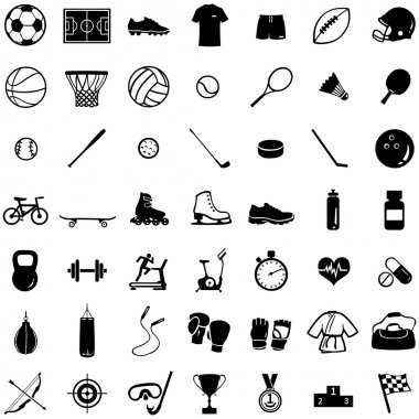 Set of 49 icons for sports store