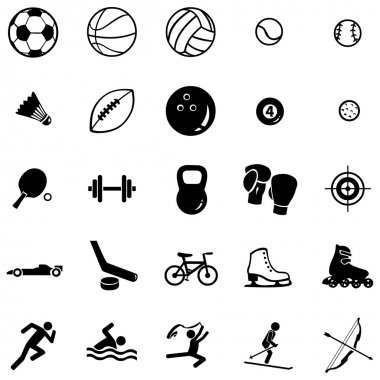 Set of 25 sport icons