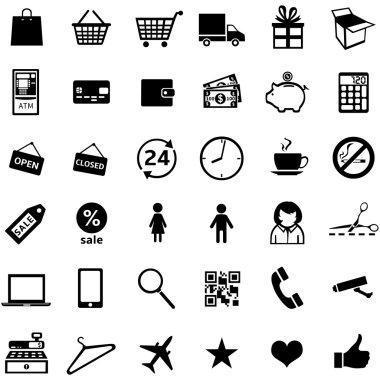 Set of 36 shopping icons