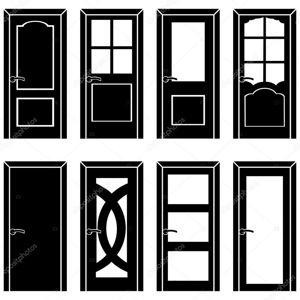 Set of 8 door icons
