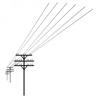 White Silhouette of Power Line