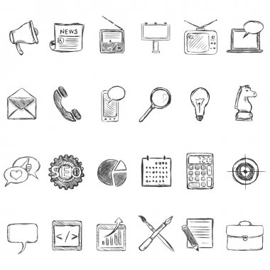 Set of Sketch Advertising Icons