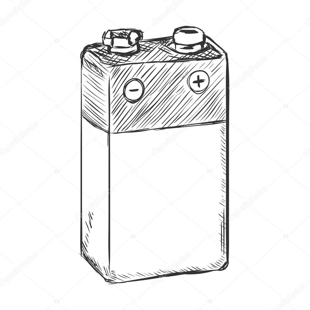 bateria 9v korona islandzka  u2014 grafika wektorowa  u00a9 nikiteev