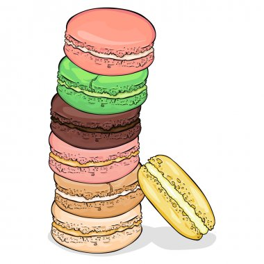 Cartoon Color Macaroons