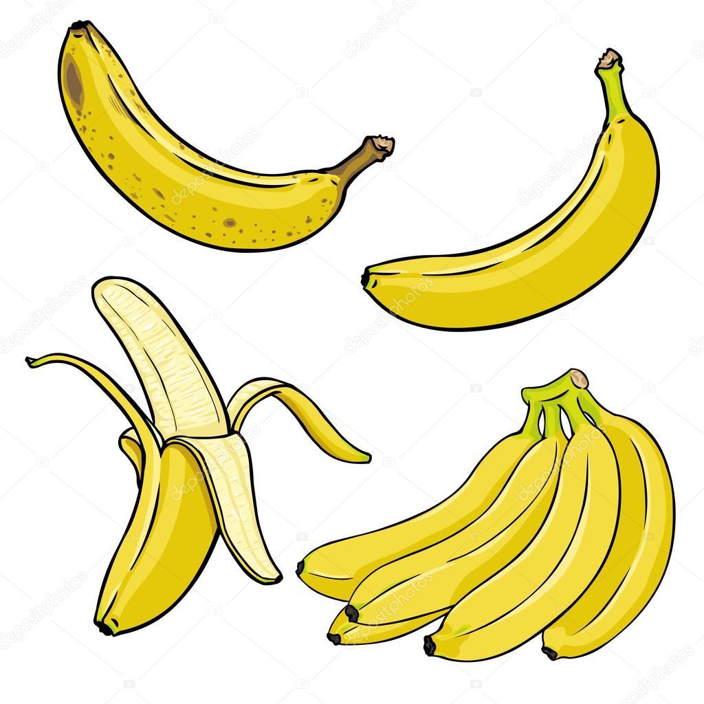 Cartoon Yellow Bananas
