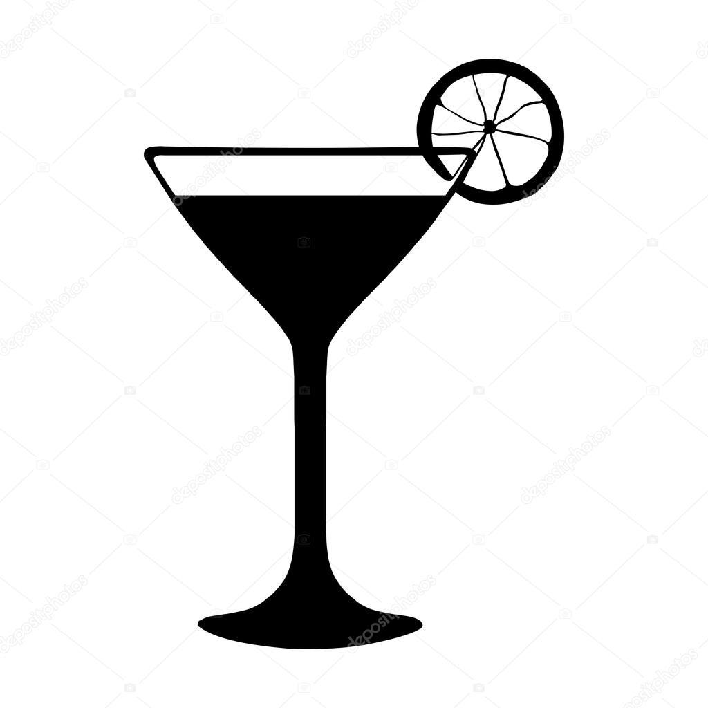 black and white cocktail with lime stock vector nikiteev 73482859 rh depositphotos com