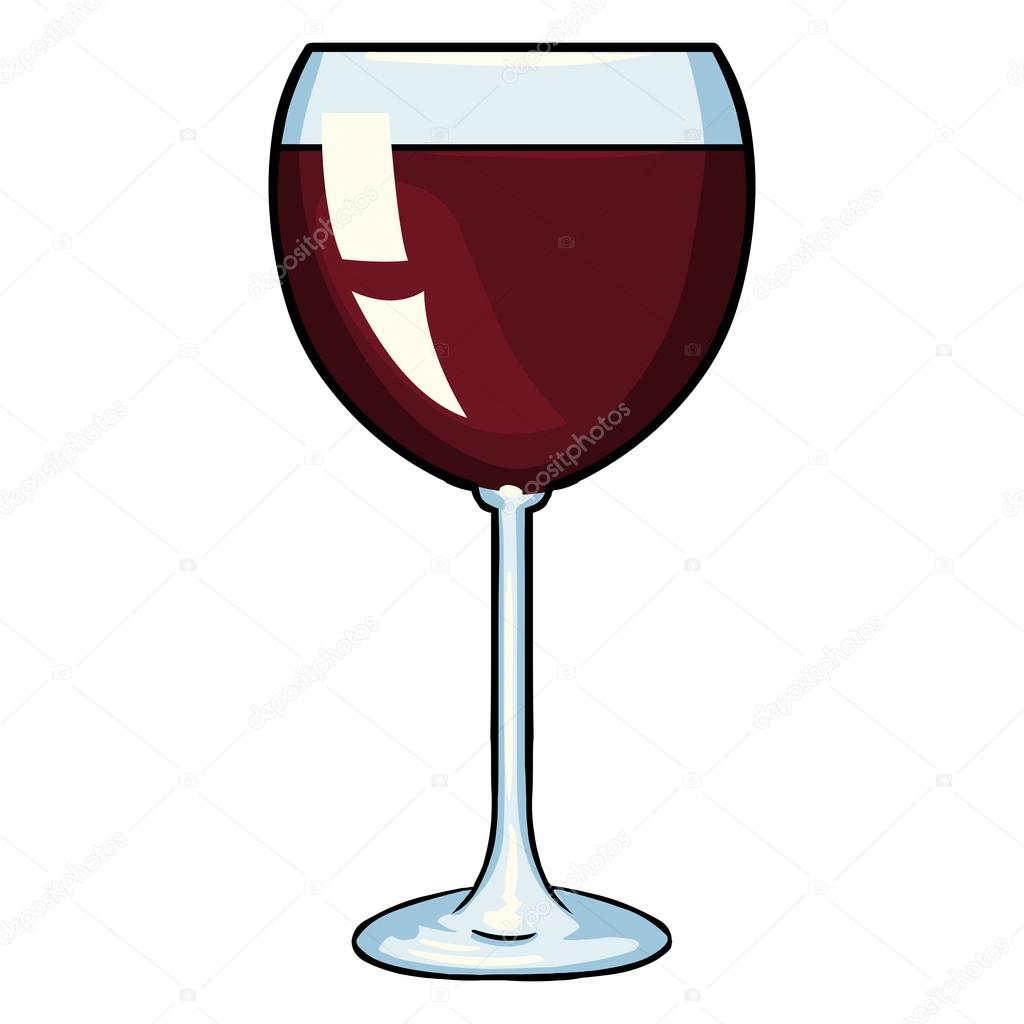 cartoon glass of red wine stock vector nikiteev 73483309 rh depositphotos com vine vector art wine vector icon