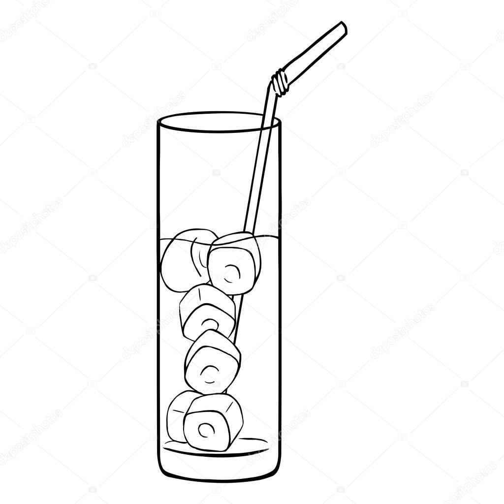 Vaso De Limonada Para Colorear Vaso De Limonada Con Una Pajita
