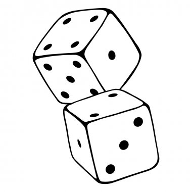 Cartoon   Two Dices.