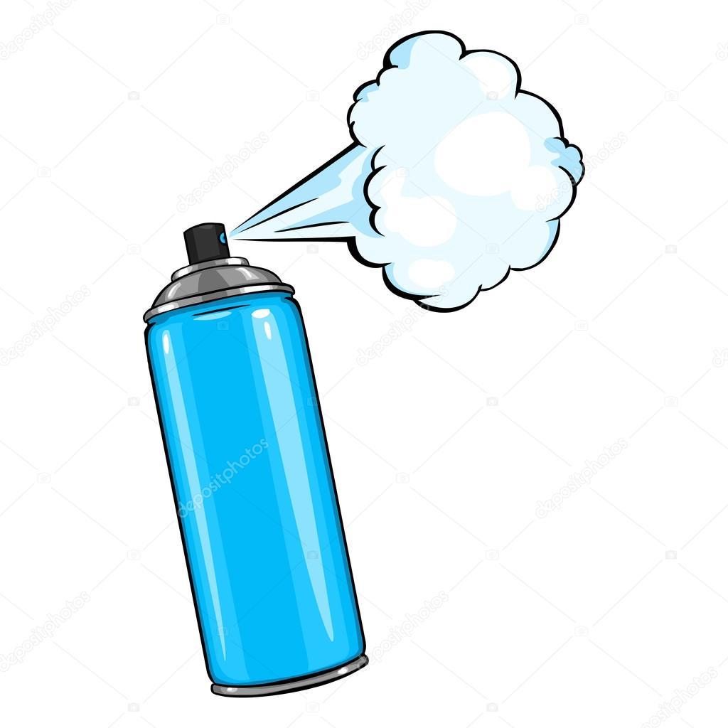 Aerosol spray con pintura azul vector de stock - Pintura con spray ...