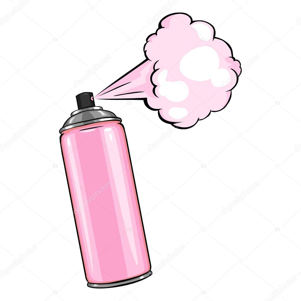 Aerosol spray with pink paint stock vector nikiteev - Pintura con spray ...