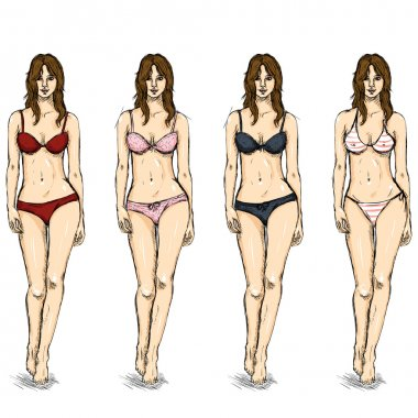Sketch Female Models.