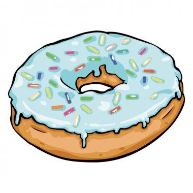 Single Cartoon Doughnut