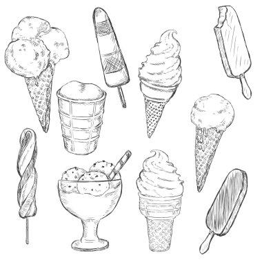 Sketch Set of Ice Cream