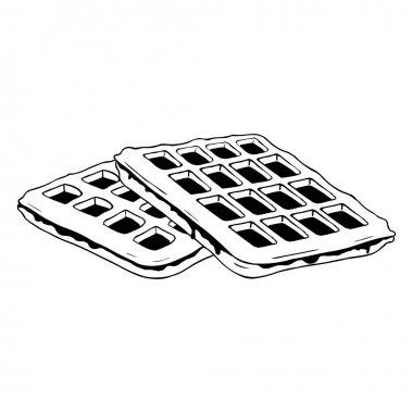 Line Art  Belgian Waffles.