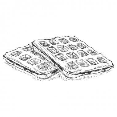 Sketch Belgian Waffles.