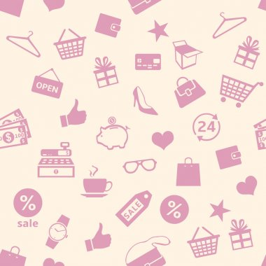 Shopping Pattern Background
