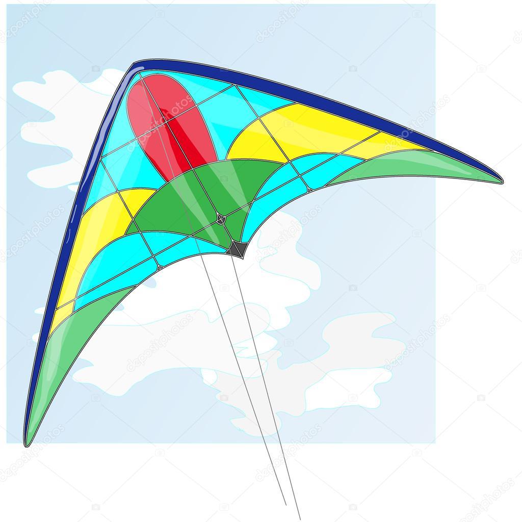 カイトカラフルな凧のベクトル イラスト ストックベクター