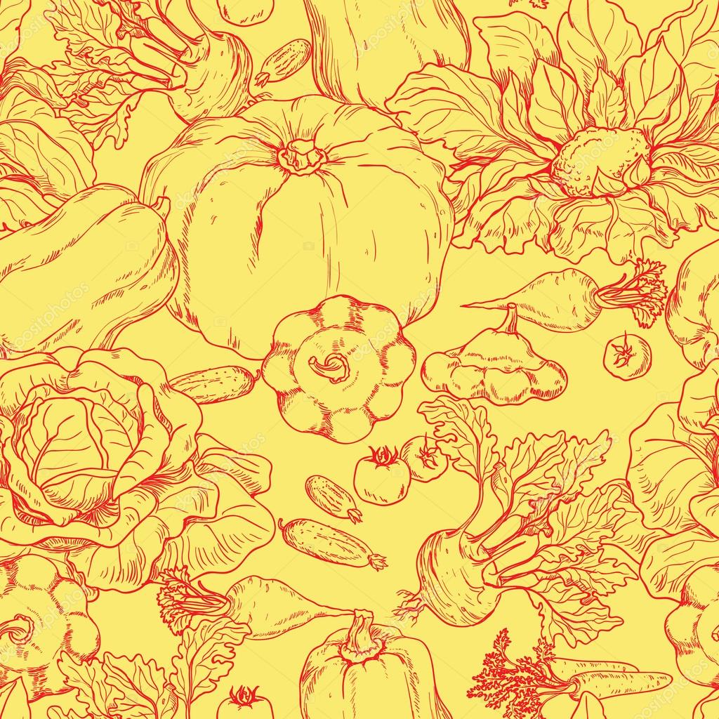 Various vegetables pattern