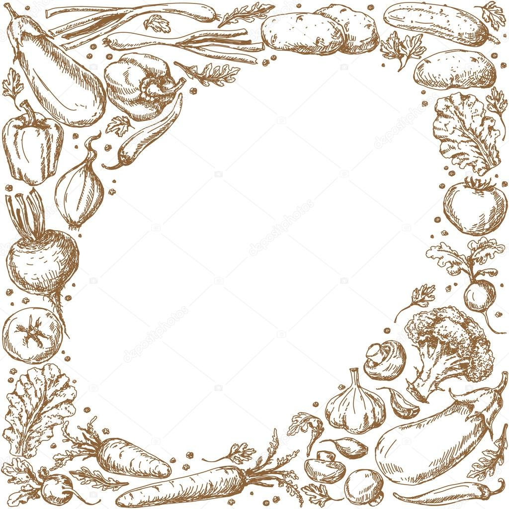 Vegetable Oval Frame