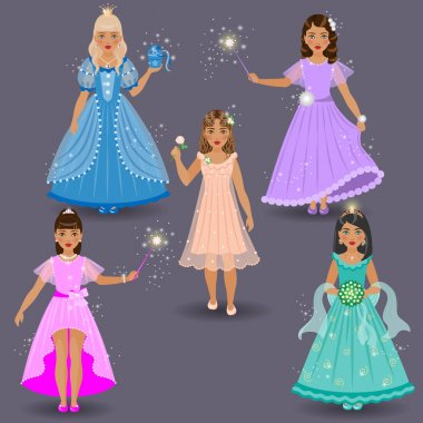 Cute Little Fairies and Princesses