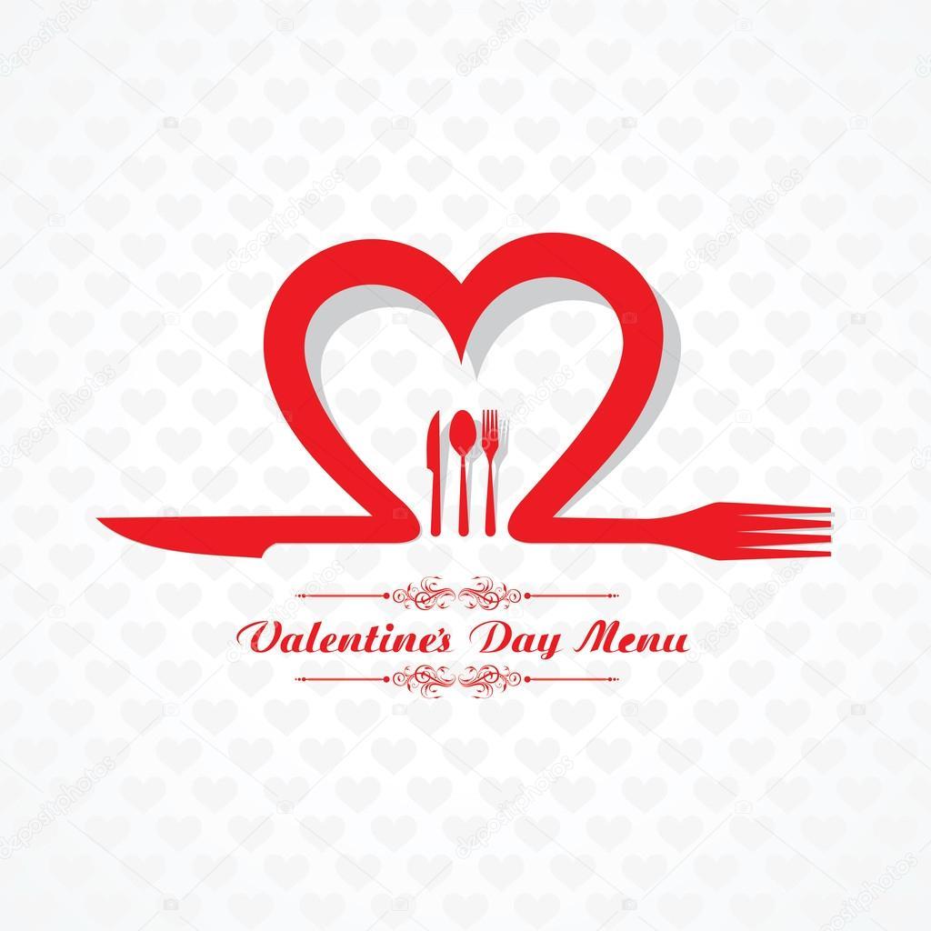 Valentinstag-Speisekarte — Stockvektor © graphicsdunia4u #64065113