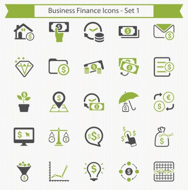 Business Finance Icons - Set 1