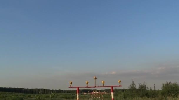 Pěkné přistání letadla, letadlo v nebi, Rusko, Moskva, mezinárodní letiště Šeremetěvo