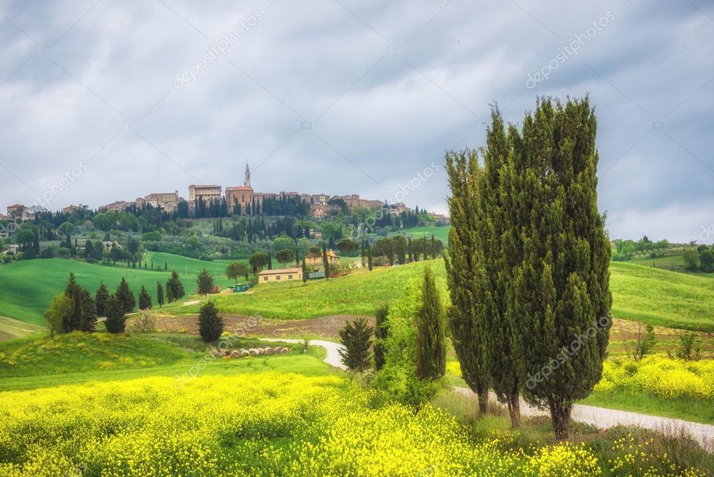 Eternally beautiful and every season Pienza in Tuscany.