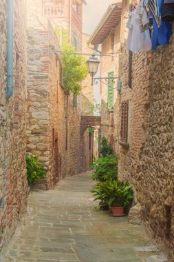 Beautiful hilltop town in Tuscany, Italy