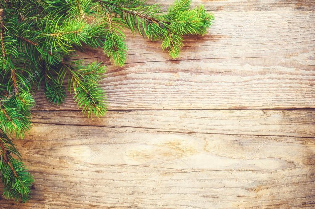 Weihnachten Hintergrund auf einem alten Holztisch rustikal ...