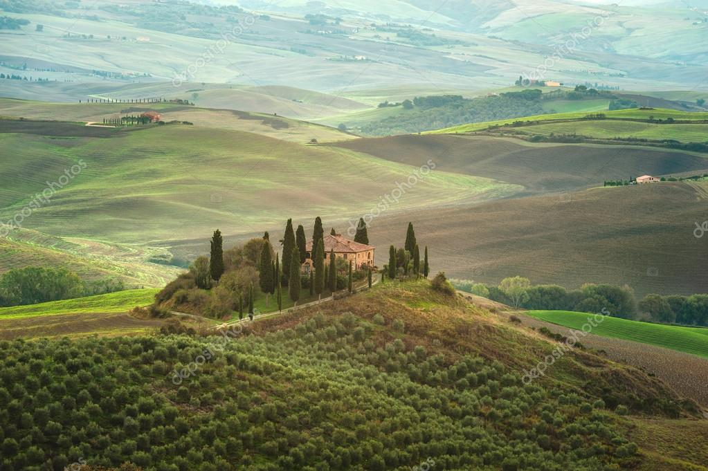 The beautiful Tuscan countryside around San Quirico d'Orcia