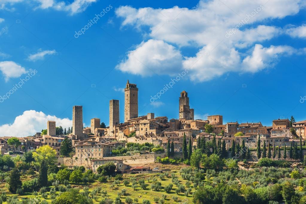 Toskana-Stadt San Gimignano in Italien, in der Nähe von Siena ...