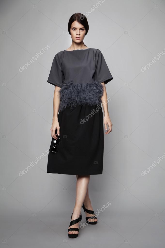 Vestido formal sin tacones