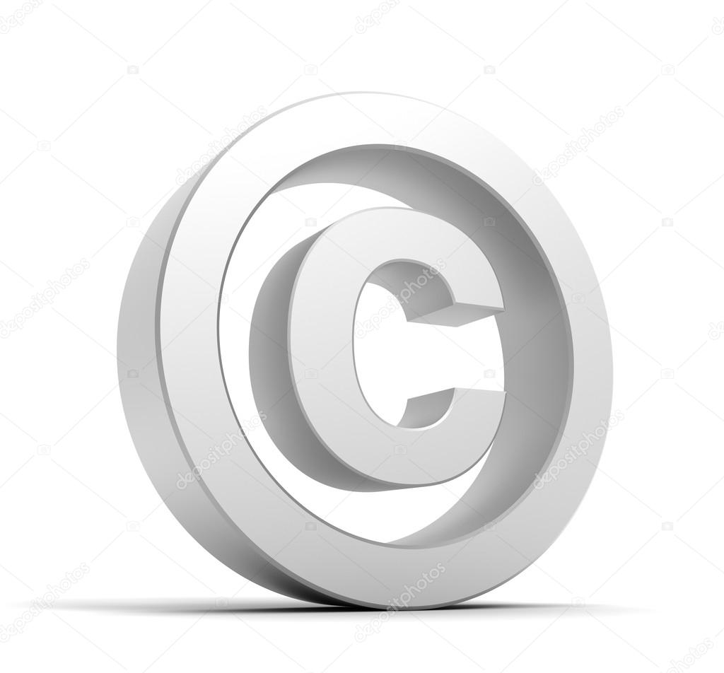 Copyright symbol isolated stock photo mstanley 122515354 copyright symbol 3d illustration isolated on white background photo by mstanley biocorpaavc